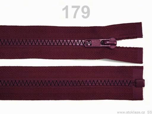 Kostený zips šírka 5 mm dĺžka 40 cm bundový Biking Red 10ks