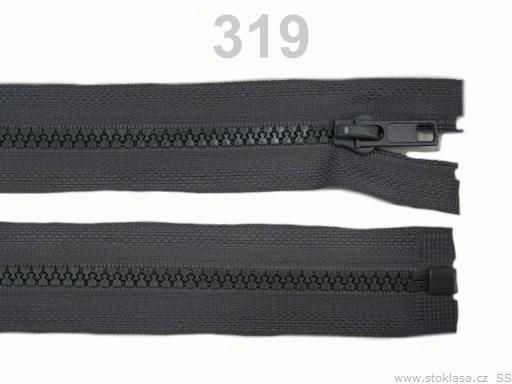 Kostený zips šírka 5 mm dĺžka 45 cm bundový Friar Brown 10ks