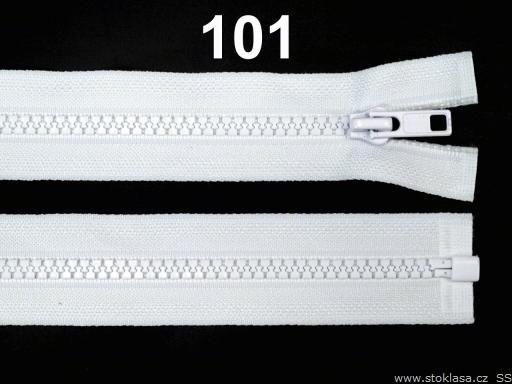 Kostený zips šírka 5 mm dĺžka 45 cm bundový White 10ks