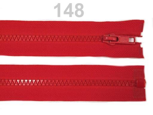 Kostený zips šírka 5 mm dĺžka 45 cm bundový Poppy Red 10ks