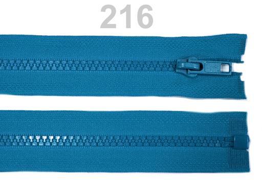 Kostený zips šírka 5 mm dĺžka 45 cm bundový Biking Red 10ks