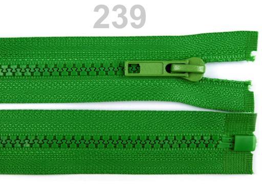 Kostený zips šírka 5 mm dĺžka 45 cm bundový Blue Danube 10ks