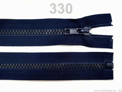 Kostený zips šírka 5 mm dĺžka 50 cm bundový Beech 10ks