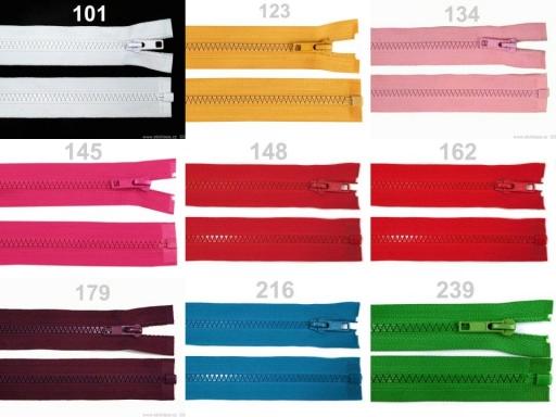 Kostený zips šírka 5 mm dĺžka 50 cm bundový Friar Brown 10ks