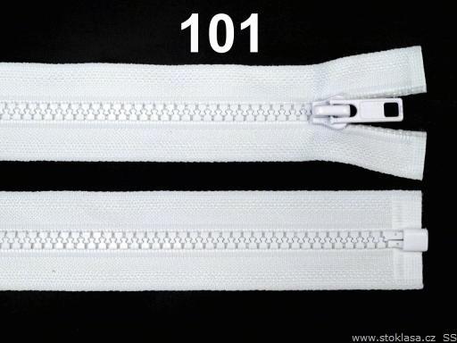 Kostený zips šírka 5 mm dĺžka 55 cm bundový White 1ks