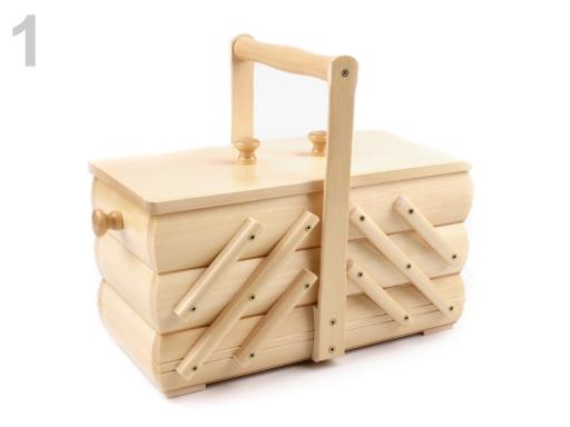 Kazeta / košík na šitie rozkladacia malá béžová sv. 2ks