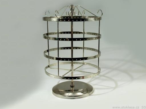 Otočný stojan na náušnice Ø20 cm výška 32 cm 2. akosť strieborná 1ks