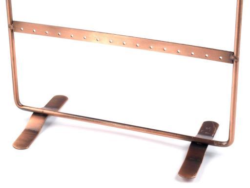 Stojan na náušnice 21x36 cm medená 1ks