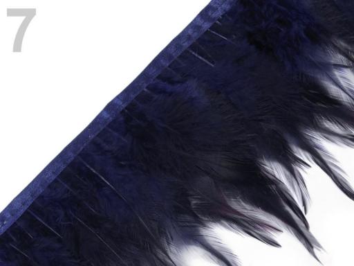 Prámik - kohútie perie šírka 12 cm fialová gebera 1m