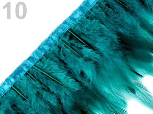 Prámik - kohútie perie šírka 12 cm Classic Green 1m