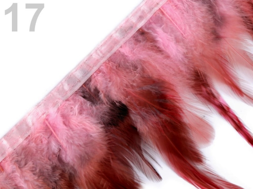Prámik - kohútie perie šírka 12 cm modrá temná 1m