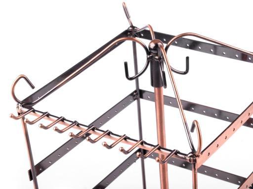 Otočný stojan na bižutériu 16x16 cm výška 33 cm medená str. 1ks