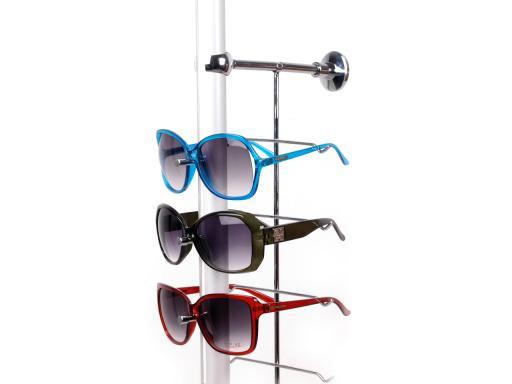 Stojan na okuliare kovový na 14 ks okuliarov strieborná 2ks