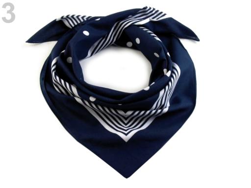 Bavlnená šatka s bodkami 70x70 cm červená 3ks