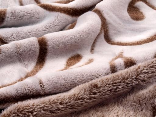 Deka fleece 150x200 cm so vzorom krémová 1ks