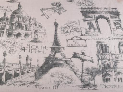 Šatka / šál Paríž 100x180 cm krémová 1ks