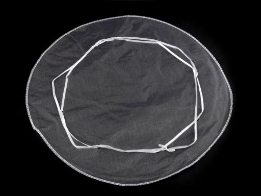Darčekové vrecúško Ø32 cm organza s lurexom krémová najsvetl 5ks