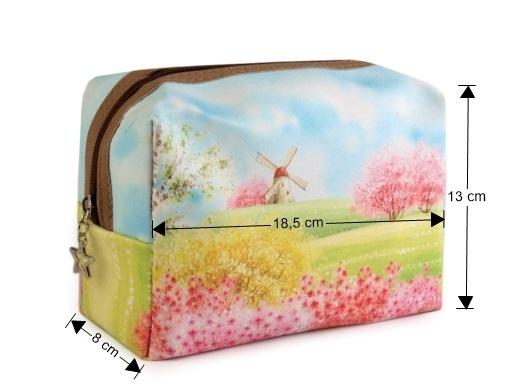 Kozmetická taška s potlačou zelené jablko 1ks