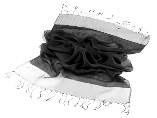Hodvábny šál 70x180 cm čierna 1ks