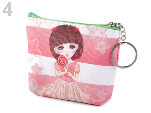 Peňaženka / puzdro 10x12 cm ružová sv. 3ks