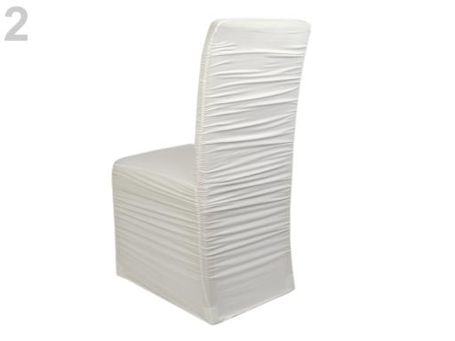 Elastický návlek na stoličky riasený krémová sv. 1ks