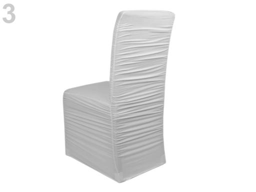 Elastický návlek na stoličky riasený šedá najsv. 4ks