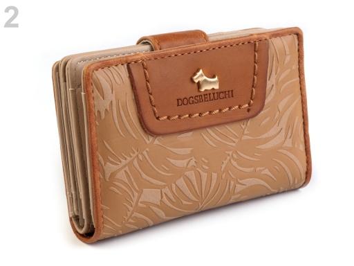 Peňaženka značky Dogsbybeluchi 9,5x14 cm hnedá srnčia 1ks