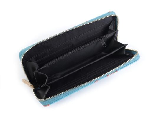 Dámska peňaženka 10x19 cm tyrkys najsv. 1ks
