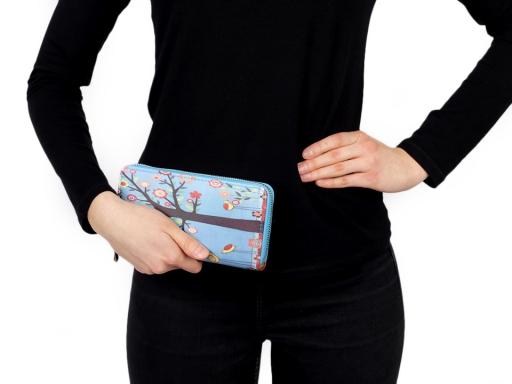 Dámska peňaženka 10x19 cm tyrkys 1ks