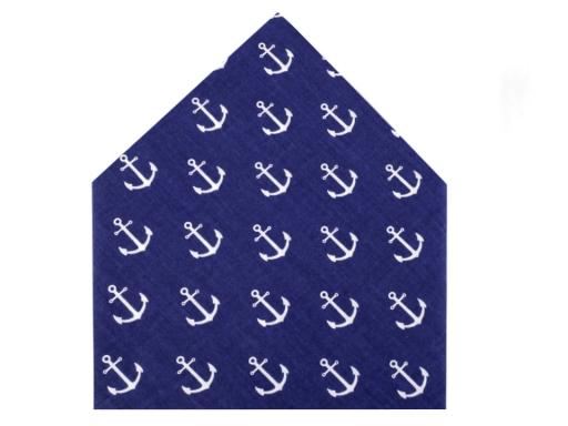 Bavlnená šatka s kotvami 65x65 cm biela 1ks