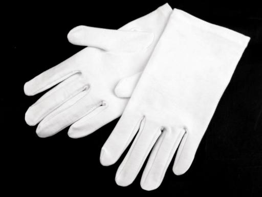 Spoločenské rukavice pánske biela 1pár