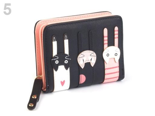 Peňaženka mačky 9x11,5 cm hnedá srnčia 1ks