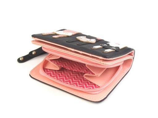 Peňaženka mačky 9x11,5 cm čierna 1ks