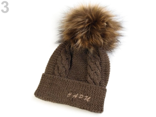 2c309fe40 Detská zimná čiapka s odnímateľným brmbolcom Capu hnedý dub 1ks