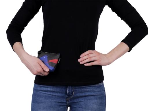Peňaženka / puzdro Languo 8x11 cm čierno-modrá 1ks