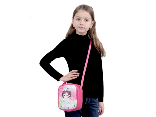 Detská kabelka 15,5x16 cm ružová str. 10ks