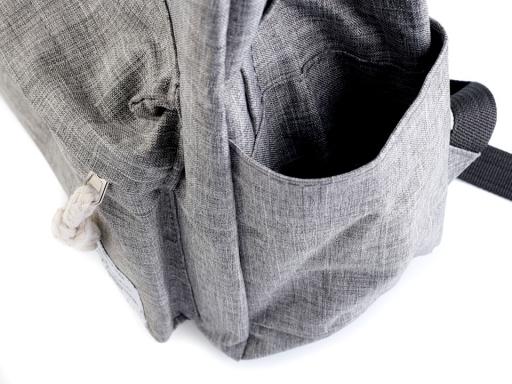 Batoh 29x41 cm nepromokavý šedá hematit 1ks