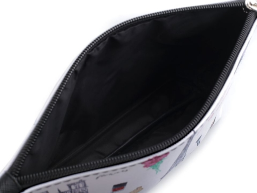 Kozmetická taška / puzdro Paríž 14x23 cm ružová najsv. 1ks