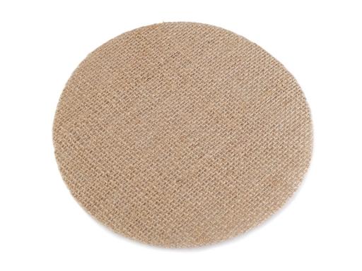 Jutová podložka Ø15 cm režná príodná 6ks