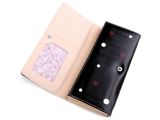 Dámska / dievčenská peňaženka 9x18 cm lososová sv. 1ks