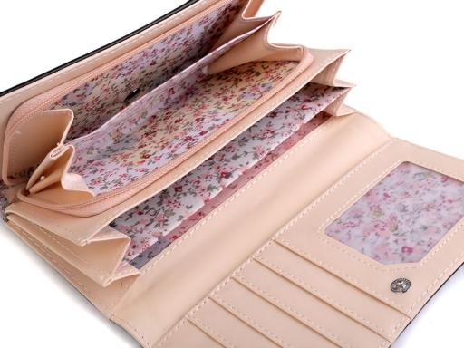 Dámska / dievčenská peňaženka 9x18 cm marhulová 1ks