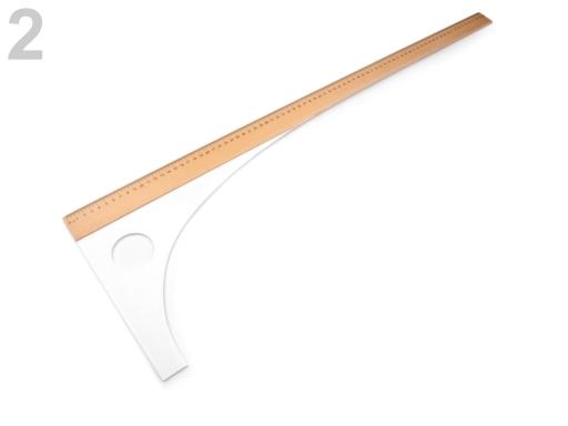 Krajčírsky príložník dĺžka 60 cm, 80 cm prírodná stredná 1ks