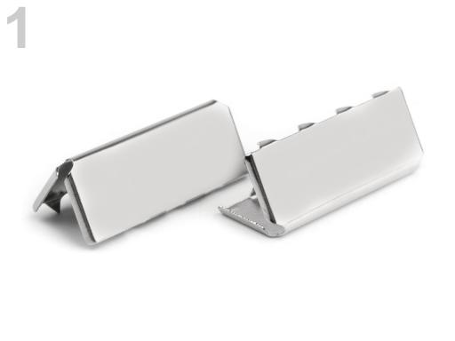 Kovová koncovka šírka 25 mm nikel 500ks
