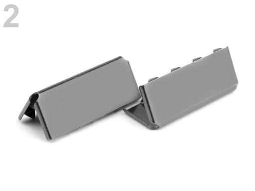 Kovová koncovka šírka 25 mm nikel čierny 10ks