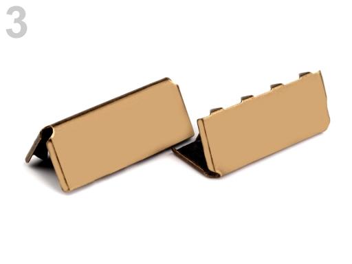 Kovová koncovka šírka 25 mm staromosadz 10ks