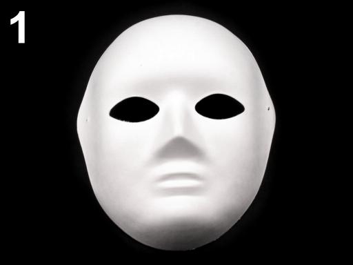 Maska na tvár k domaľovaniu biela 4ks