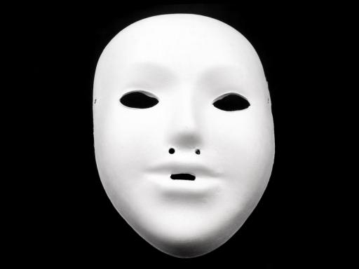 Maska na tvár detská k domaľovaniu biela 1ks