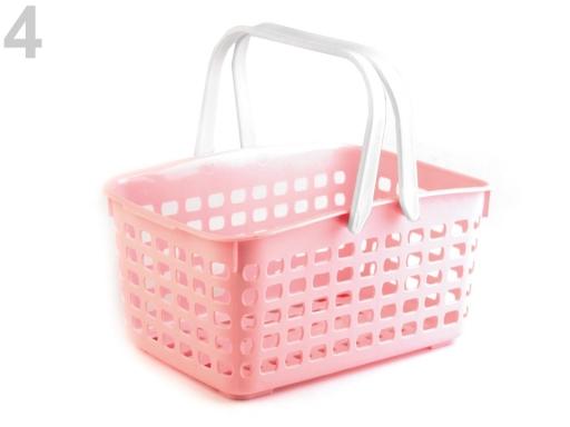 Plastový košík 14x20,5x30,5 cm ružová lastúrová 1ks
