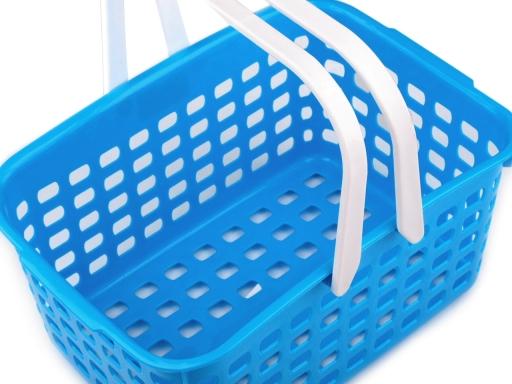 Plastový košík 14x20,5x30,5 cm ružová lastúrová 20ks