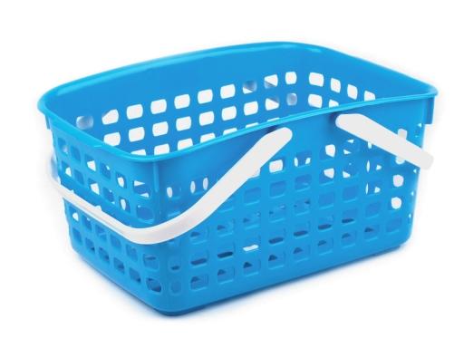 Plastový košík 14x20,5x30,5 cm béžová sv. 1ks